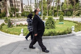 Minister of Cooperatives, Labor, and Social Welfare Mohammad Shriatmadari is seen after the end of the meeting of Cabinet Ministers, Tehran, Iran, April 7, 2021.