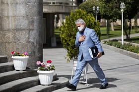 The head of Iran's Planning and Budget Organization (PBO) Mohammad-Baqer Nobakht is seen after the end of the meeting of Cabinet Ministers, Tehran, Iran, April 7, 2021.
