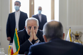 The meeting between Russian Foreign Minister Sergey Lavrov and Iranian Foreign Minister Mohammad Javad Zarif, Tehran, Iran, April 13, 2021.