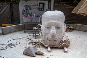 The fourth National Sculpture Symposium is held in Kerman, Iran, April 21, 2021.