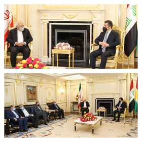 Foreign Minister Zarif holds talks with Masoud Barzani in Erbil