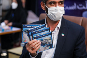 Saeed Mohammad, the former director of the Khatam-al Anbiya Construction Headquarters and a presidential hopeful registers for the 13th presidential election, Tehran, Iran, May 11, 2021.