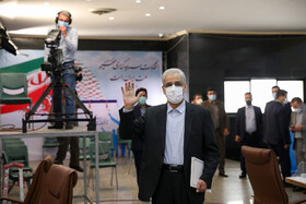 Iran's former Agriculture Minister Sadegh Khalilian registers for the 13th presidential election, Tehran, Iran, May 12, 2021.