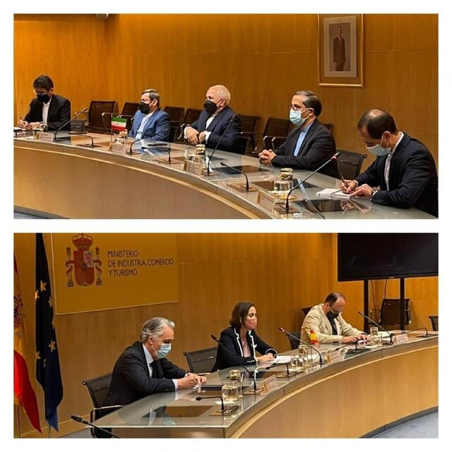 Foreign Minister Zarif, Spanish Trade Minister meet in Madrid
