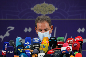 Iran's First Vice-President Es'haq Jahangiri attends a press conference after registering to run in the presidential election, Tehran, Iran, May 15, 2021.