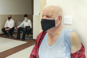 The COVID-19 vaccination of people aged over 75, Tehran, Iran, May 24, 2021.