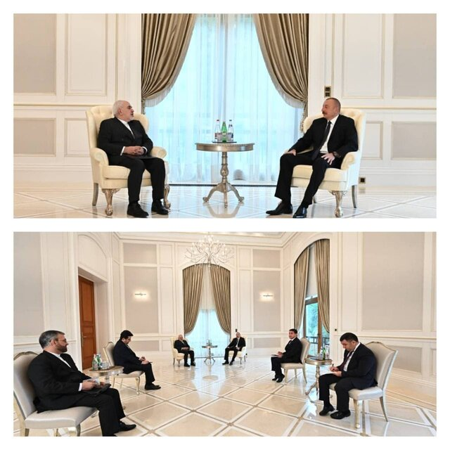 Iranian Foreign Minister meets with President of Azerbaijan
