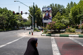 The atmosphere of Tehran on the anniversary of Imam Khomeini's demise, Iran, June 4, 2021.