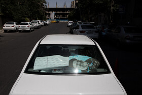 The presidential advertising campaigns ahead of Iran's 13th presidential election, Tehran, Iran, June 7, 2021.