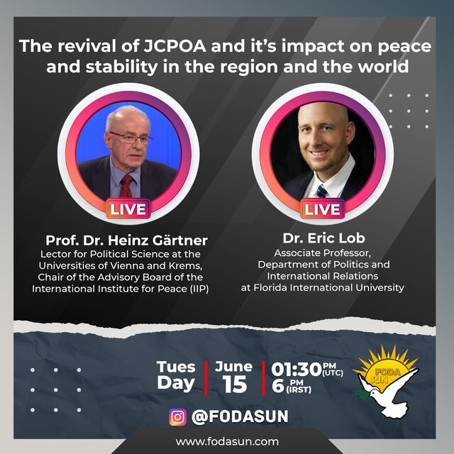 Webinar to be held on revival of JCPOA, its impact on peace, stability
