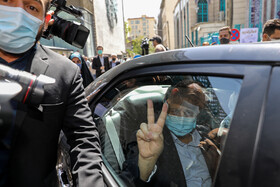Presidential candidate Abdolnaser Hemmati is seen after casting his vote in the 13th presidential election, Tehran, Iran, June 18, 2021.
