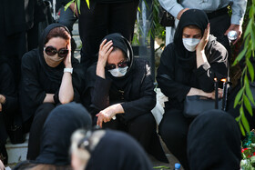 A memorial service is held for Mahshad Karimi, the correspondent of ISNA News Agency who lost her life in a tragic bus accident, Tehran, Iran, June 27, 2021.