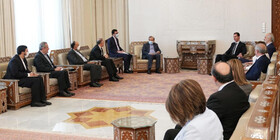 Iranian diplomat meets with Syrian president in Damascus