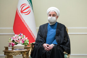 Iranian President Hassan Rouhani is seen during his meeting with new ambassadors to Tehran, Iran, July 20, 2021.
