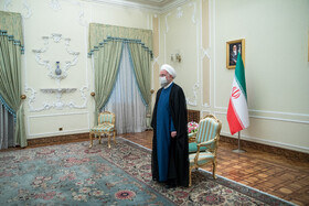 Iranian President Hassan Rouhani is seen before his meeting with new ambassadors to Tehran, Iran, July 20, 2021.