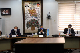 The meeting between the Director-General of the International Atomic Energy Agency Rafael Grossi and the head of Iran's Atomic Energy Organization Mohammad Eslami, Tehran, Iran, September 12, 2021.
