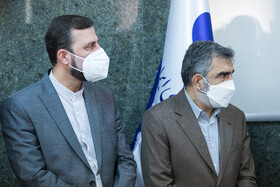 On the sidelines of a joint press conference held between the Director-General of the International Atomic Energy Agency Rafael Grossi and the head of Iran's Atomic Energy Organization Mohammad Eslami, Tehran, Iran, September 12, 2021.
