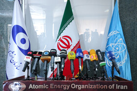 On the sidelines of a joint press conference between the Director-General of the International Atomic Energy Agency Rafael Grossi and the head of Iran's Atomic Energy Organization Mohammad Eslami, Tehran, Iran, September 12, 2021.