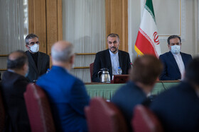 New deputies of Iran's Foreign Minister Hossein Amir-Abdollahian are inaugurated in a ceremony, Tehran, Iran, September 19, 2021.