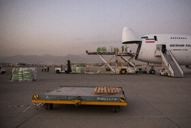 The shipment of the humanitarian aides of Iran's Red Crescent Society to Afghanistan, Tehran, Iran, October 4, 2021.