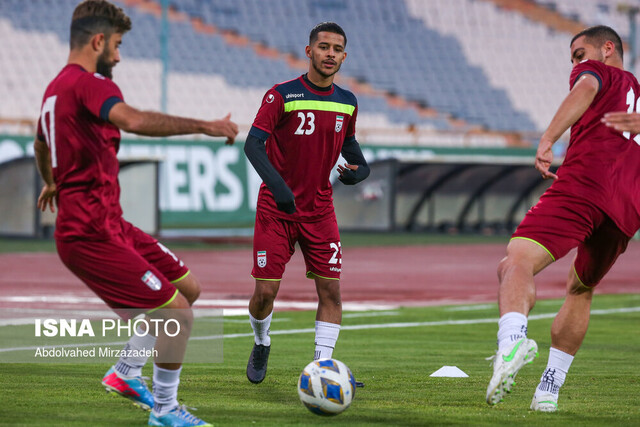 Training session of Iran football team before match against S. Korea