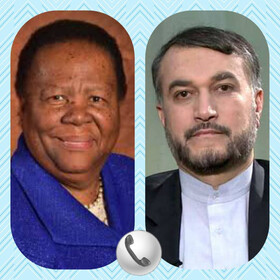 Iran, S Africa FMs discuss bilateral ties, cooperation