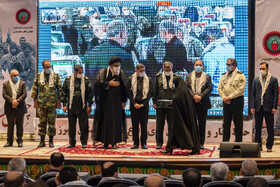 A ceremony honoring the veterans of the Sacred Defense, Alborz, Iran, September 21, 2020.