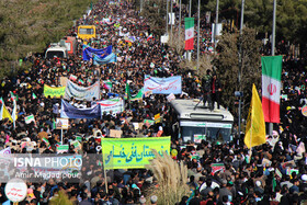 Iranians mark the 41st anniversary of the Islamic Revolution's victory, Birjand, Iran, February 11, 2020.