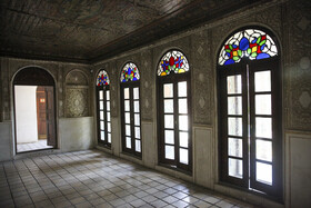 Inside of Zinat al-Molk House is seen in the photo, Shiraz, Iran, August 5, 2020. Most of the ceilings of the House have been decorated with different paintings of animals and flowers.