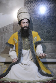 The statue of Karim Khan Zand, the founder of the Zand Dynasty, is seen in the photo, Shiraz, Iran, August 5, 2020. Hall of fame museum of Shiraz is also located in this House in which wax effigies of Iranians are on display.