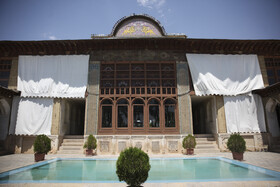 Zinat al-Molk House is seen in the photo, Shiraz, Iran, August 5, 2020. Zinat al-Molk House boasts amazing architecture and the art of Āina-kāri (a kind of interior decoration made by Iranian artists who assemble finely cut mirrors together in geometric, calligraphic or foliage forms.), as well as a path below the level of the ground which connects the House with the Garden of Narenjestan-e Qavam.