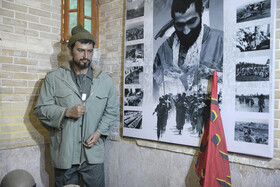 The statue of Majid Sepasi, one of the Iranian soldiers martyred during the Iran-Iraq War, is seen in the photo, Shiraz, Iran, August 5, 2020. Hall of fame museum of Shiraz is also located in this House in which wax effigies of Iranians are on display.