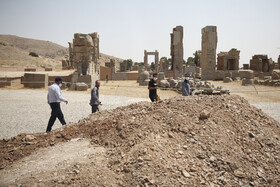 Archeological excavations in Persepolis, Shiraz, Iran, August 17, 2020.