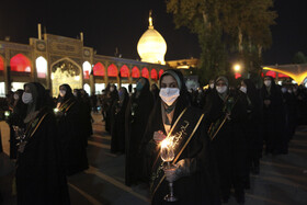 The mourning ceremony of Sham-e Ghariban is held at the Holy Shrine of Shahcheragh, Shiraz, Iran, August 30, 2020.