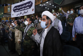 A ceremony honoring the veterans of the Sacred Defense, Fars, Iran, September 21, 2020.
