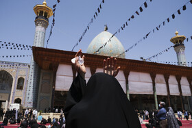 A mourning ceremony is held on the martyrdom anniversary of Imam Hussain (PBUH), Shiraz, Iran, August 19, 2021.