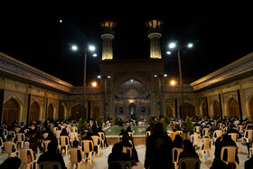 The mourning ceremony of the night of Ashura in Gorgan, Iran, August 29, 2020.