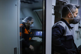 Subway wagons are disinfected in order to curb the spread of the new coronavirus in Isfahan, Iran, February 22, 2020.