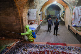 The disinfection of public places in order to curb the spread of the new coronavirus, Isfahan, Iran, February 29, 2020.