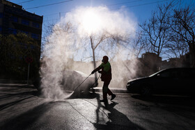 The disinfection of public places in order to curb the spread of the new coronavirus, Isfahan, Iran, March 5, 2020.