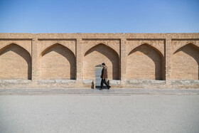 """Si-o-se Pol"" (33 Bridge) is seen in the photo amid fears of the new coronavirus, Isfahan, Iran, March 15, 2020."