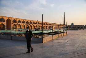 """Imam Ali Square"" is seen in the photo amid fears of the new coronavirus, Isfahan, Iran, March 15, 2020."