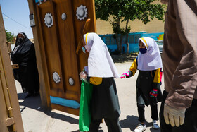 Schools are reopened in Isfahan, Iran, May 16, 2020. Going to schools is not compulsory and students who need classroom teaching can go to classes.