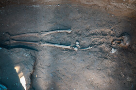 The discovery of the skeleton of a woman dating back to the reign of Parthian Empire, Isfahan, Iran, July 27, 2020.