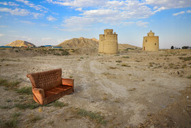 The dovecotes of Mazrae Gavart Village, Isfahan, Iran, August 13, 2020.