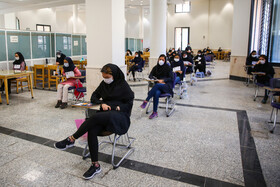 The first day of the university entrance examination, known as Konkour, Isfahan, Iran, August 19, 2020.