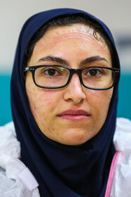 The portrait photo of one of the medical staff of a health center located in Isfahan amid the outbreak of the coronavirus, September 7, 2020.