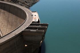 Zayandehrud Dam is an arch dam located in Isfahan, Iran, April 17, 2021.