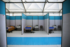 The inauguration of the Army's 100-bed field hospital in Isfahan, April 25, 2021.