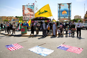Marking the International Quds Day in Isfahan, Iran, May 7, 2021.